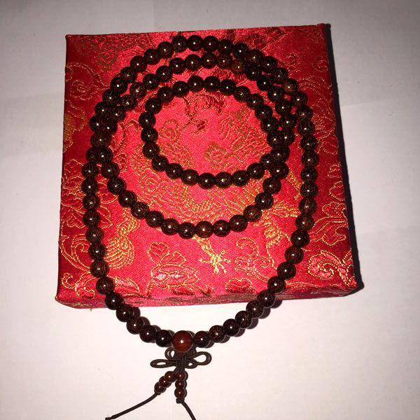 苏州伟和乐器厂直销印度金丝老紫檀 女士手珠 0.6型号