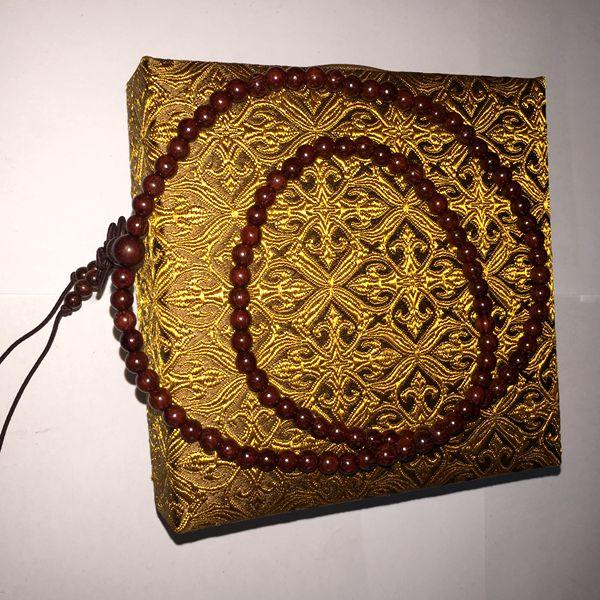 苏州伟和乐器厂直销印度金丝老紫檀 女士手珠0.5型号