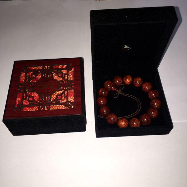 苏州伟和乐器厂直销印度金丝老紫檀 女士手串1.2型号