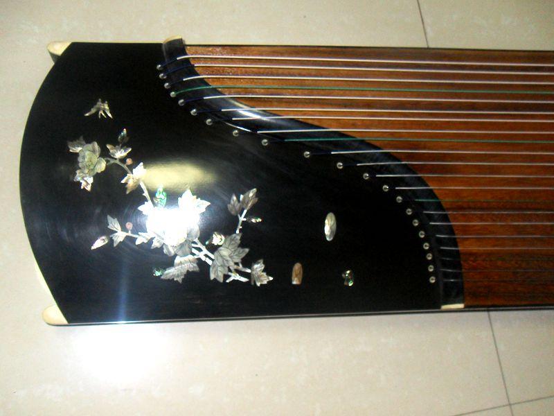 苏州伟和乐器厂雕刻 贝雕月季花古筝 考级 演奏红木古筝